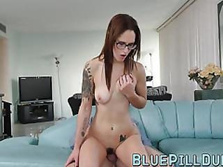 Hot Busty Teen With Amazing Ass Rides An Older Dick For Fun