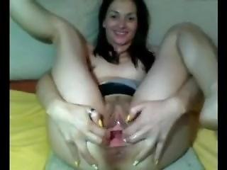 Sexy Brunette Women Plays With Herself - More At Beachporn.net