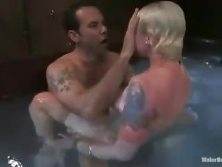 blondine, sklaverei, gangbang, harter porno, unter wasser