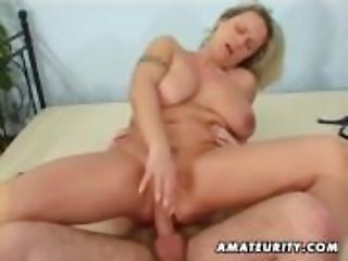 Busty amateur wife sucks and fucks