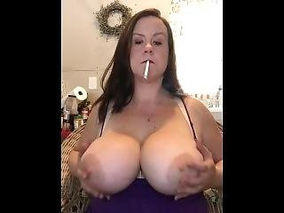 Wife Smoking Vs120 With Huge Tits