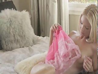 Petite Blonde Babe Strip