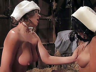Breasty Breanne Benson Has Lesbo Dream In Barn