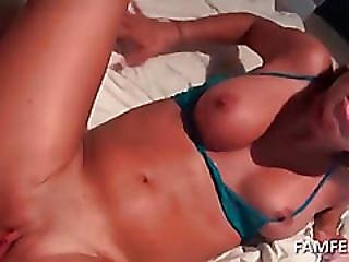 Horny Blonde Pounded Hard In Her Slit