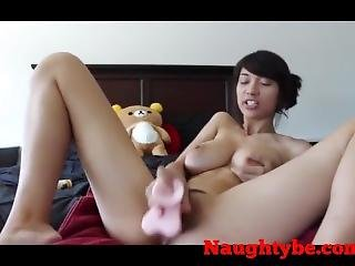 Asian Wife Take Out Her Toy As Soon Her Husband Go To Work
