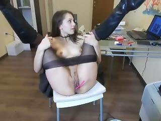 amatorski, masturbacja, biuro, Nastolatki, zabawki, kamerka