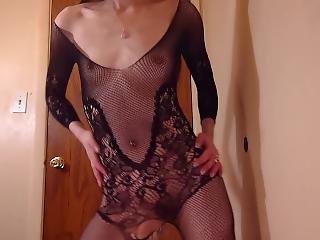 Sexy Bodystocking Lingerie Tease - Liz Lovejoy