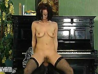 Blowjob, Cumshot, Facial, Fishnet, Duro, Piano, Media