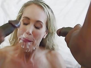 Milf Takes Sticky Double Facial