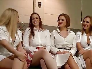 Groepsex, Hardcore, Pervers, Lesbisch, Zuster, Sex, Voorbinddildo, Spellen