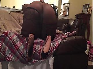 Sexy Ebony Bbwfoot Tease
