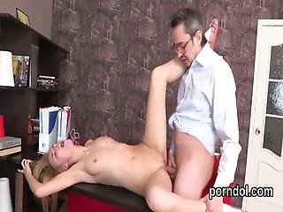 Sensual College Girl Was Tempted And Shagged By Her Senior Teacher
