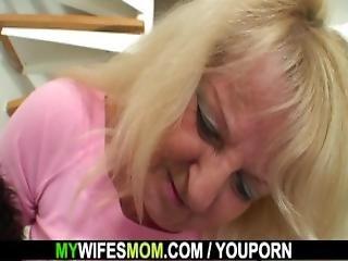 He Fucks Girlfriends Hot Mom In Lingerie