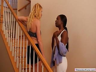 An Ebony Babe Wants To Experience Yogasm And So She Goes To Her Busty Yoga Instructor Gives What She Seeks And Eats Her Pussy