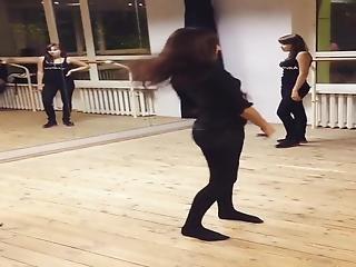 Teen Dancing In Mini Skirt Pantyhose