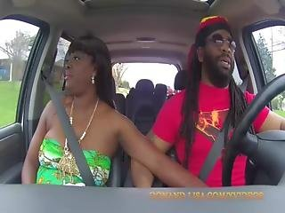 Car, Couple, Ebony, Milf, Public, Truck