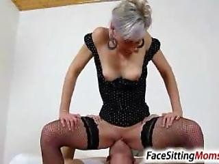 High Heels Fishnet Stockings Milf Beate Dirty Pussy Eating
