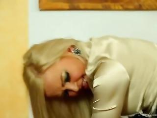 blondine, blasen, bekleideter sex, pornostar, sex