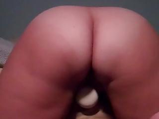 Slut Riding Her Big Vibrator