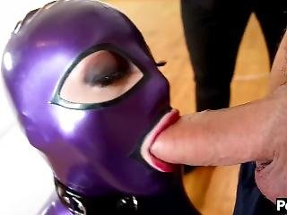 Masked Girl Fucked By Two Fuck Buddies -- European Threesome