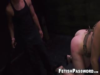 Gagged Redhead Gets Her Sweet Ass Whipped During Rough Pussy Penetration! Kaisey Dean Is Her Name And She Loves Submitting To Dominant Males!