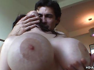 Inviting Slut With Huge Melons Rides A Raging Boner