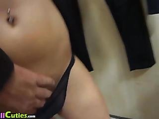 Blond Girl With Nice Tits Lets Persuade Herself For Fuck.