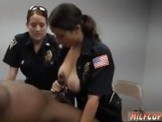 Dildo and cock blowjob Milf Cops