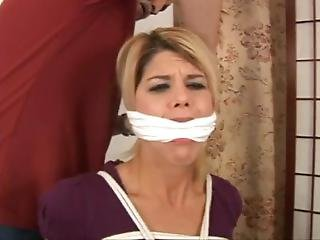 Carissa Montgomery Bound, Gagged And Hooded