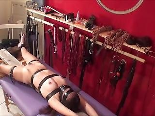 Inexperienced Teen Is Strapped Down, Vibed And Denied By Creepy Old Guy.