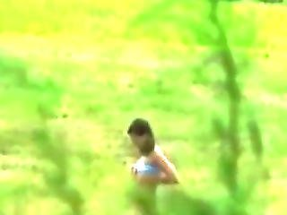Babe Gets Caught By A Peeping Tom Sun Bathing And Ends Up Fucked