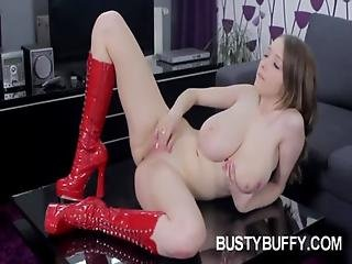 Busty Lucie Wilde Masturbating For Her Fans