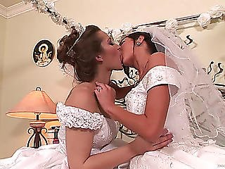 Lesbo Brides Fuck One Some Other On Camera