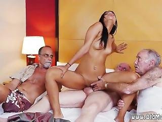 Old Mom Lesbian Staycation With A Latin Hottie