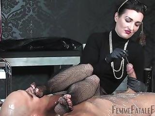 Mistress Sounding Plastic Wrapped Slave