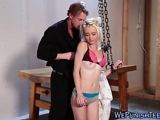 Bdsm Teen Chained Fucked Roughly And Face Spunked