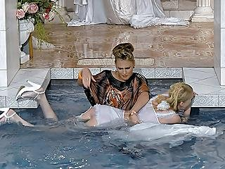 Bitchy Bride To Be In Wetlook Catfight