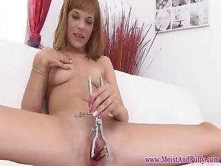 Flexible Babe Masturbating And Using Speculum