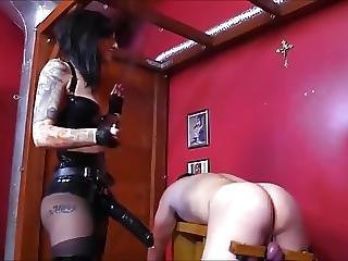 Cruel Mistress Fucks Slave With A Strapon