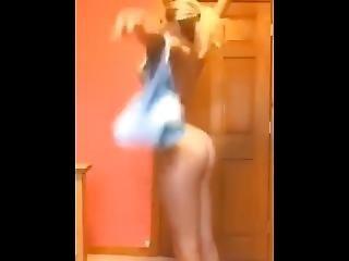 Blonde Teen Shows Of Her Ass