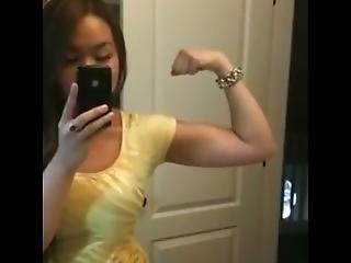 Girl Flexing Biceps 18