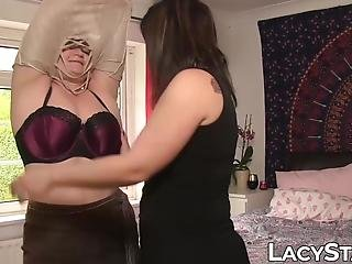 Stockings Clad Lesbian Lovemaking With Gilf And Milf