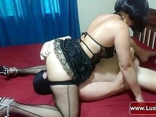 Femdom Mistress Lusinda Facesitting, Ass Licking, Pussy Licking