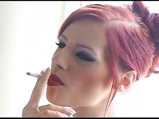 Smoking Redhead