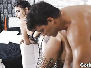 Ramon Squirt Spunk Over Scarletts Inked Body