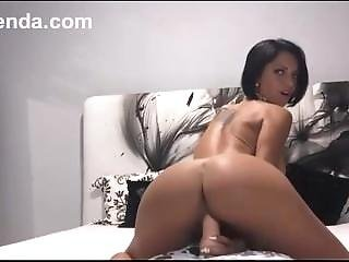 Gorgeous Brunet Girl Fucks Herself In Ass. Squirt Orgasm
