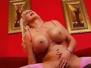 Anal, Gros Téton, Blonde, Pipe, éjaculation, Bite, Masturbation, Milf