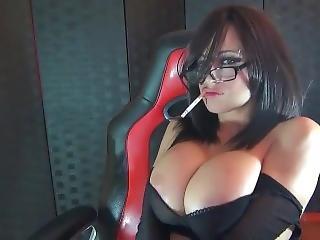 Huge Boobs Smoking Fetish