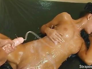 Lesbian Strapon Cum Compilation Part - 1