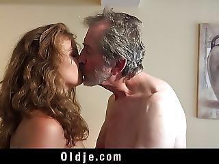 Playful Sweet Teen Gives Grandpa Incredible Sex